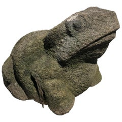 Big Old Japanese Stone Garden Frog Brings Joy and Soul to Your Sacred Space