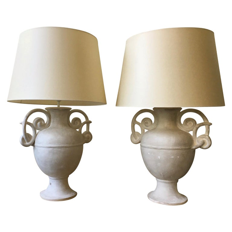 Lamps attributed to Michael Taylor, 1970, offered by Galerie Klismos