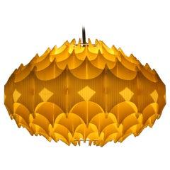BIG Plastic Origami Danish Pendant Honeycomb by Le Klint - around 1970s