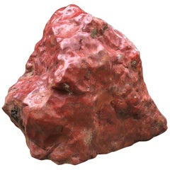 Big Red Natural Mountain Shape Scholar Viewing Stone, Spirit Rock Beauty