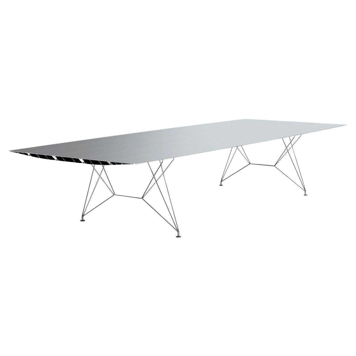 Big Stainless Steel Table B by Konstantin Grcic