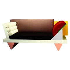 Big Sur Wooden Couch, by Peter Shire from Memphis Milano