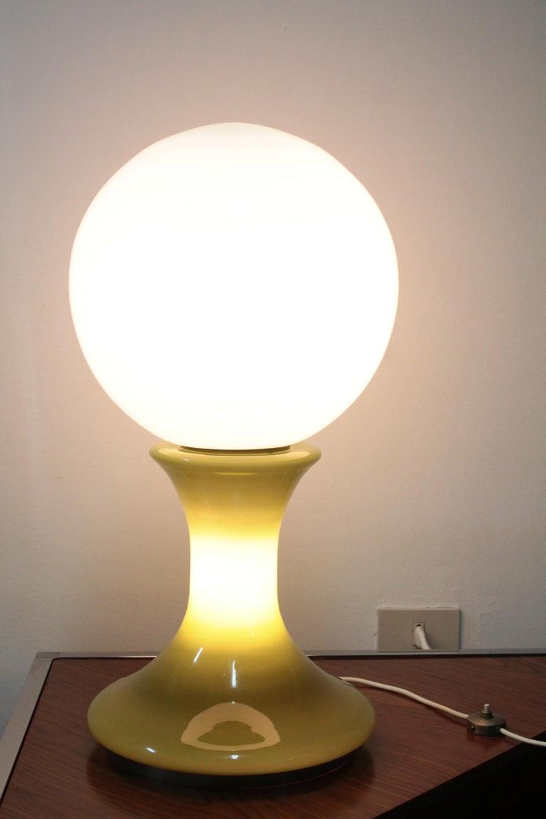 Big Table Lamp 1970s Mazzega, Design Carlo Nason In Good Condition For Sale In Palermo, Palermo