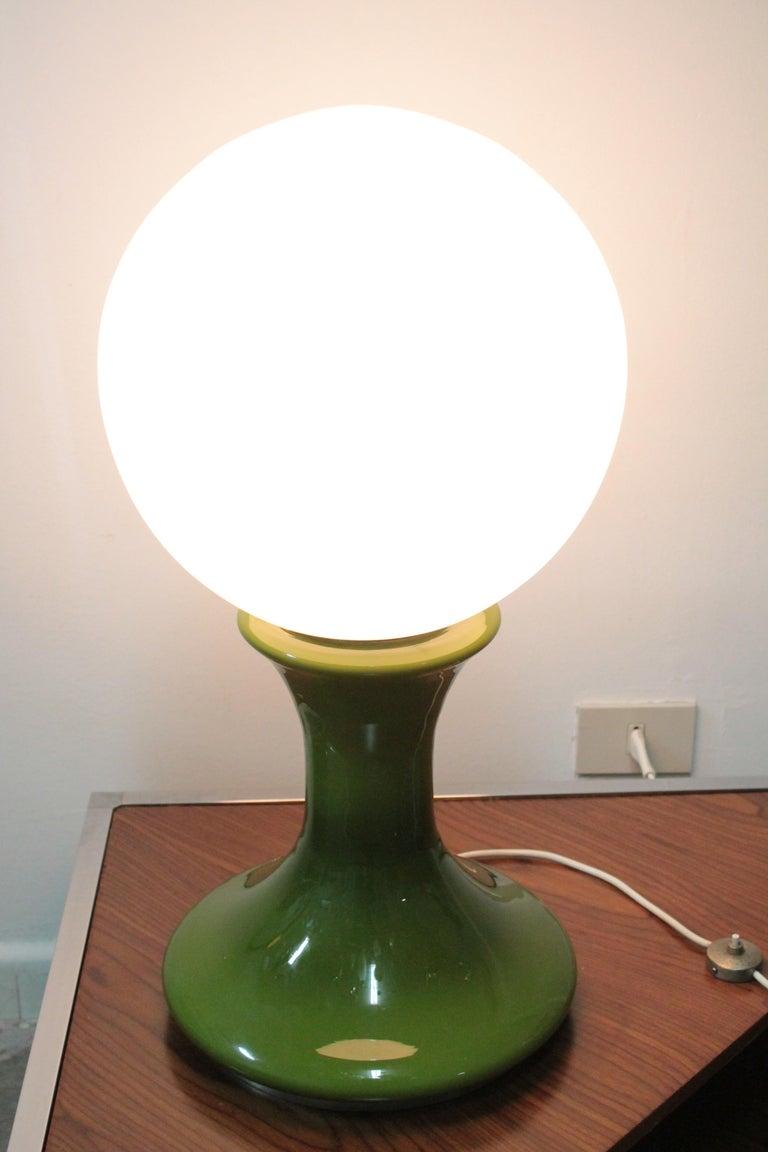 Art Glass Big Table Lamp 1970s Mazzega, Design Carlo Nason For Sale