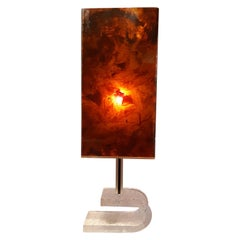 Big Table Lamp in Plexiglass and Lucite 1970 Midcentury