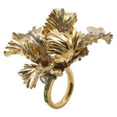 Big Tulip Ring, Diamonds
