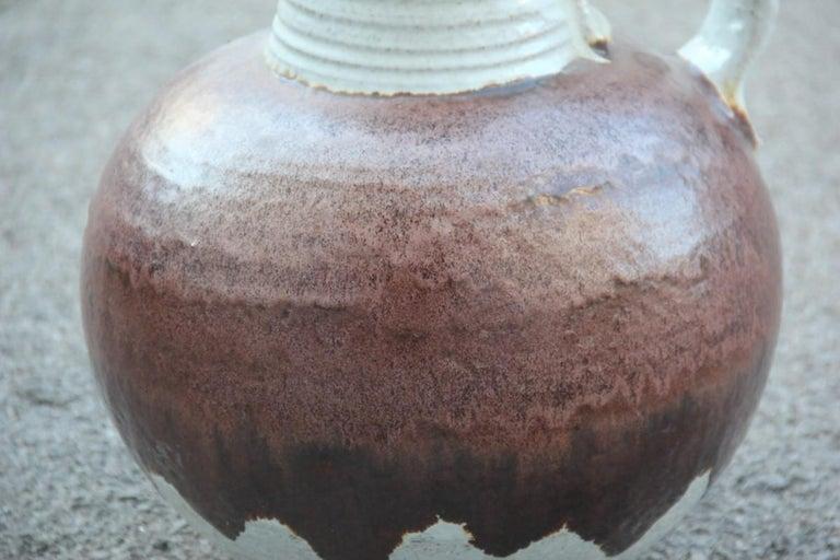 Big vase Venturina stones Mid-Century Modern design Bitossi ceramic, 1960.