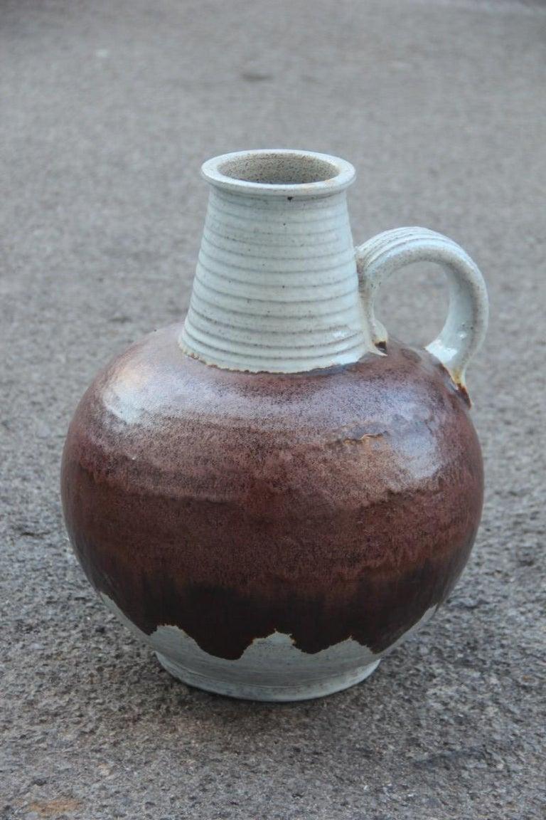 Italian Big Vase Venturina Stones Mid-Century Modern Design Bitossi Ceramic, 1960 For Sale