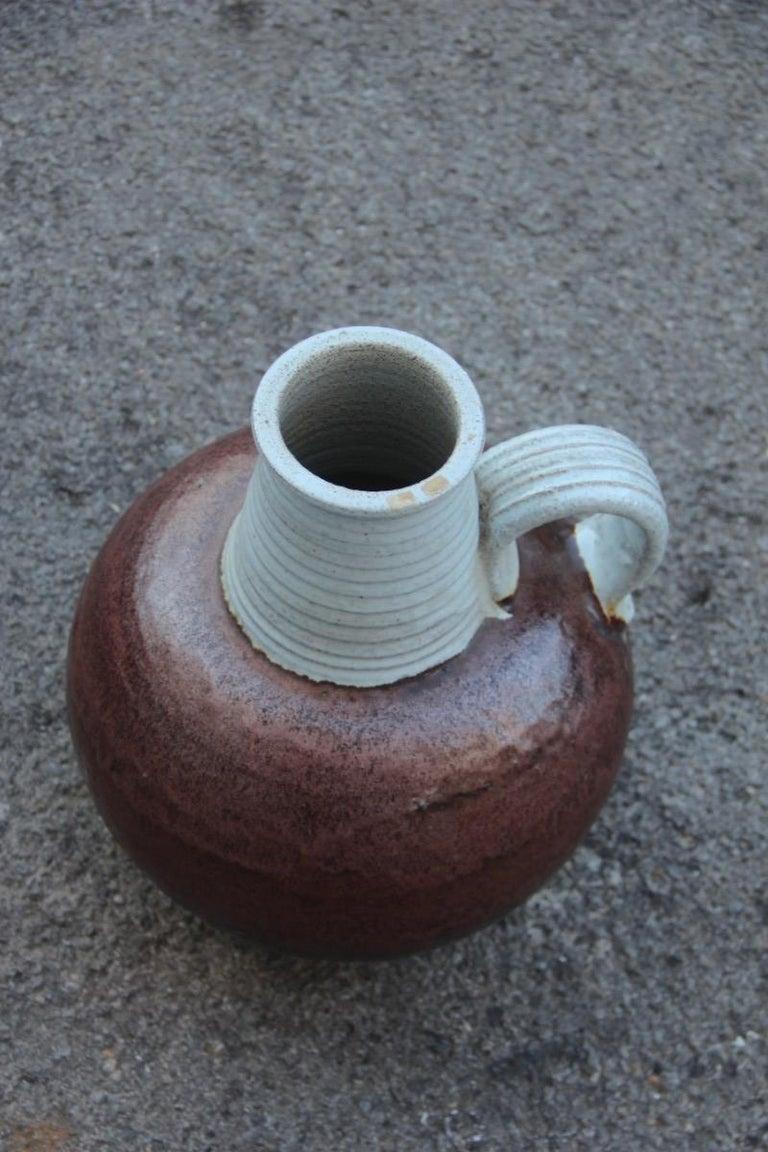 Big Vase Venturina Stones Mid-Century Modern Design Bitossi Ceramic, 1960 In Good Condition For Sale In Palermo, Sicily