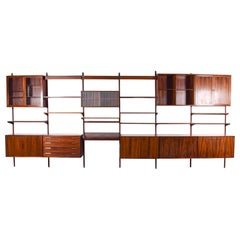 Big Wall Unit by Kai Kristiansen for FM Mobler in Rosewood, 1960