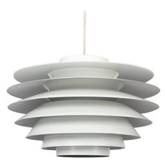Big White Verona Pendant by Svend Middelboe for Nordisk Solar, 1970s