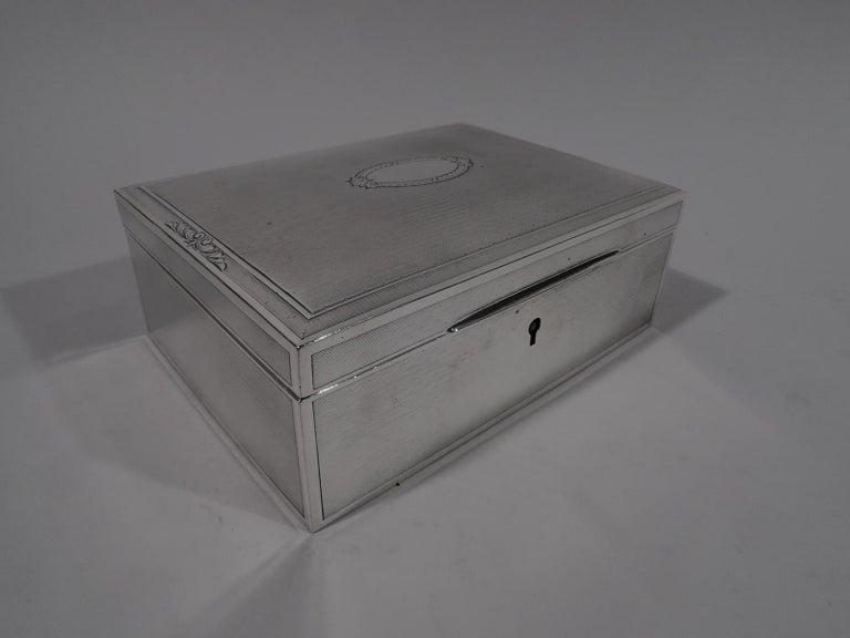20th Century Bigelow, Kennard American Art Deco Sterling Silver Jewelry Box