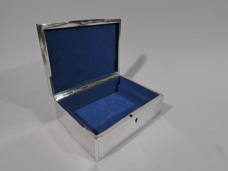 Bigelow, Kennard American Art Deco Sterling Silver Jewelry Box 1
