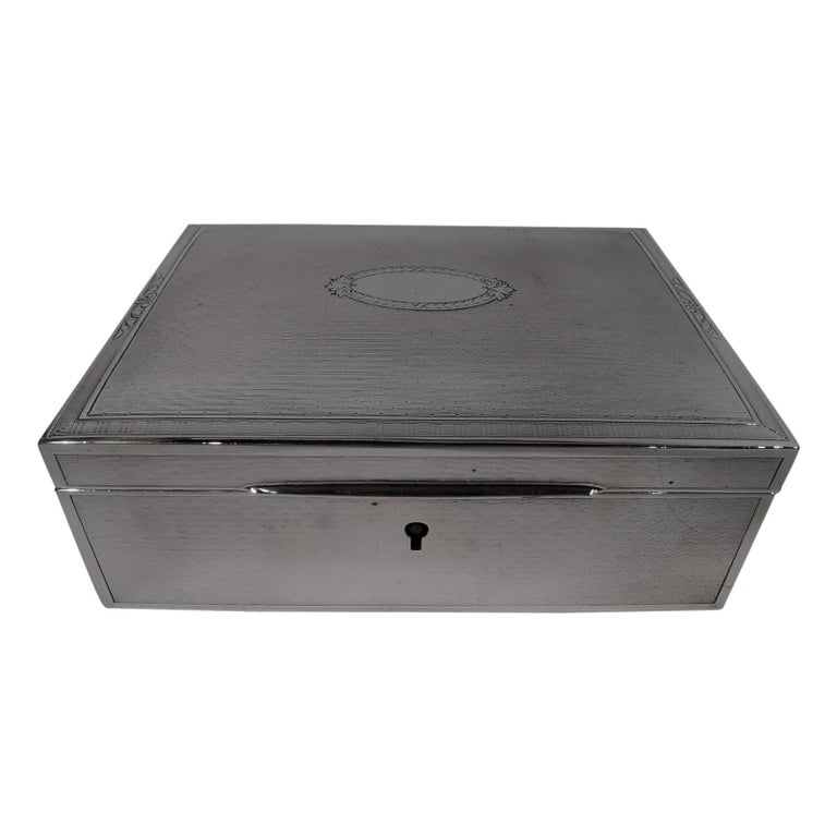Bigelow, Kennard American Art Deco Sterling Silver Jewelry Box