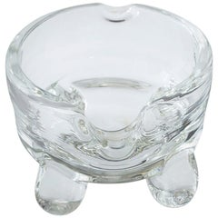 Hand Blown Clear Glass Ashtray 'Bigfoot'