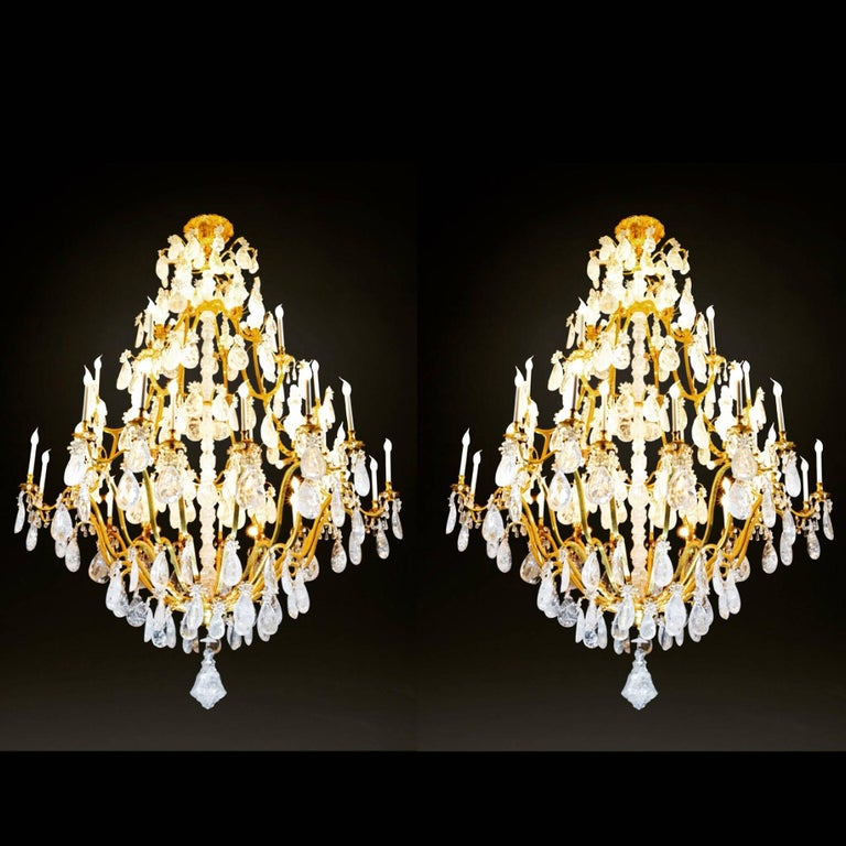 Biggest Pair Of Rock Crystal Lightings in the World By Alexandre VOSSION For Sale 4