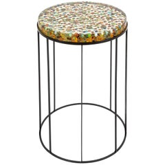 Biglie Side Table in Multicolor Resin and Metal by Emanuela Crotti
