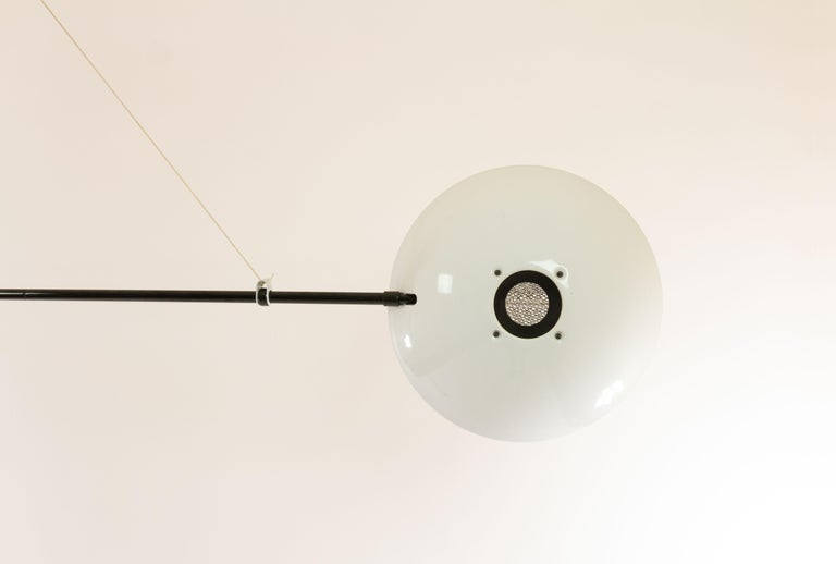 Mid-Century Modern Bigo Floor to Ceiling Lamp by S.T. Valenti for Valenti, 1981 For Sale