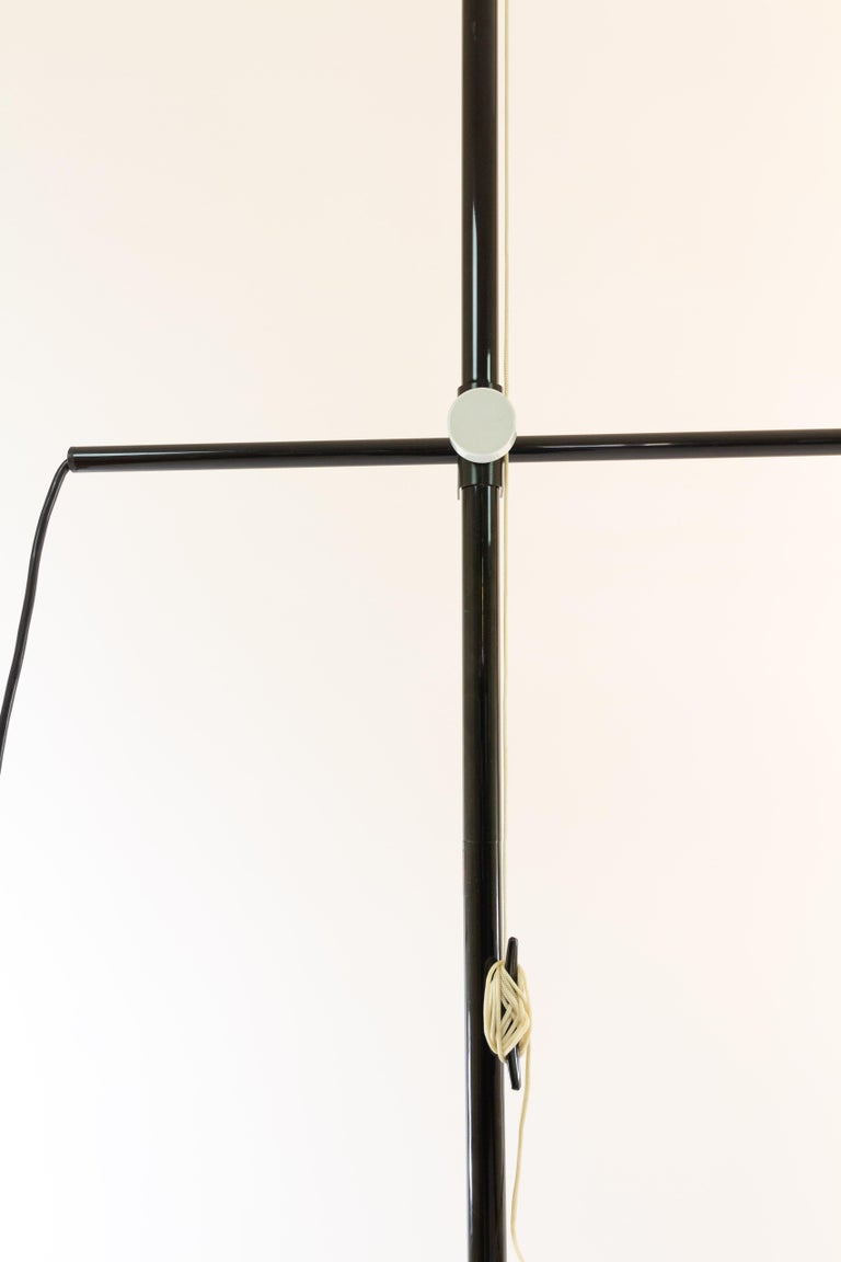 Anodized Bigo Floor to Ceiling Lamp by S.T. Valenti for Valenti, 1981 For Sale