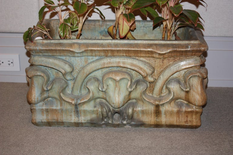 Bigot French Art Nouveau Ceramic Planter In Excellent Condition For Sale In New York, NY
