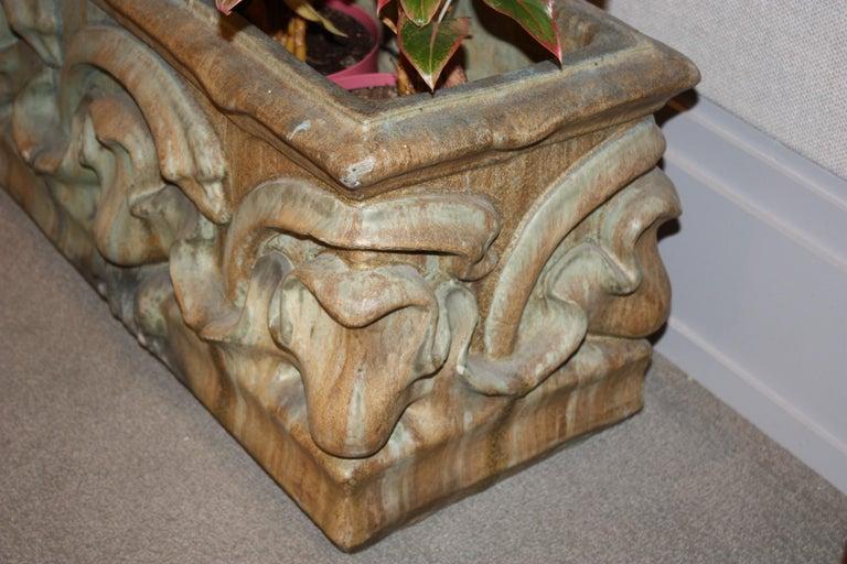 19th Century Bigot French Art Nouveau Ceramic Planter For Sale