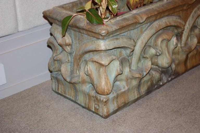 Earthenware Bigot French Art Nouveau Ceramic Planter For Sale