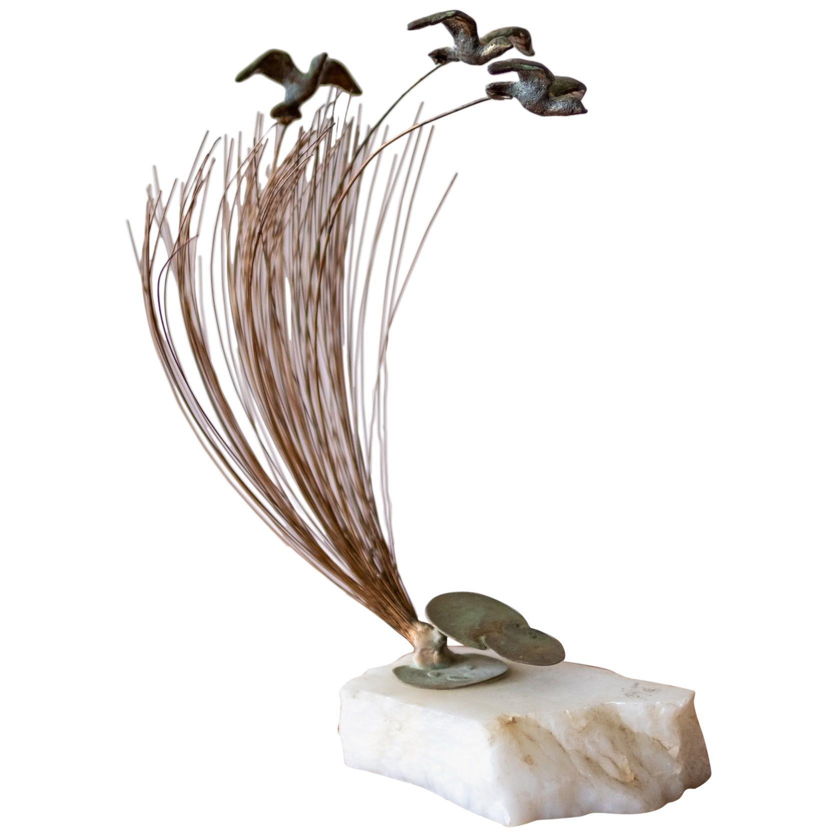 Bijan Kinetic Bronze Bird Sculpture, 1970s