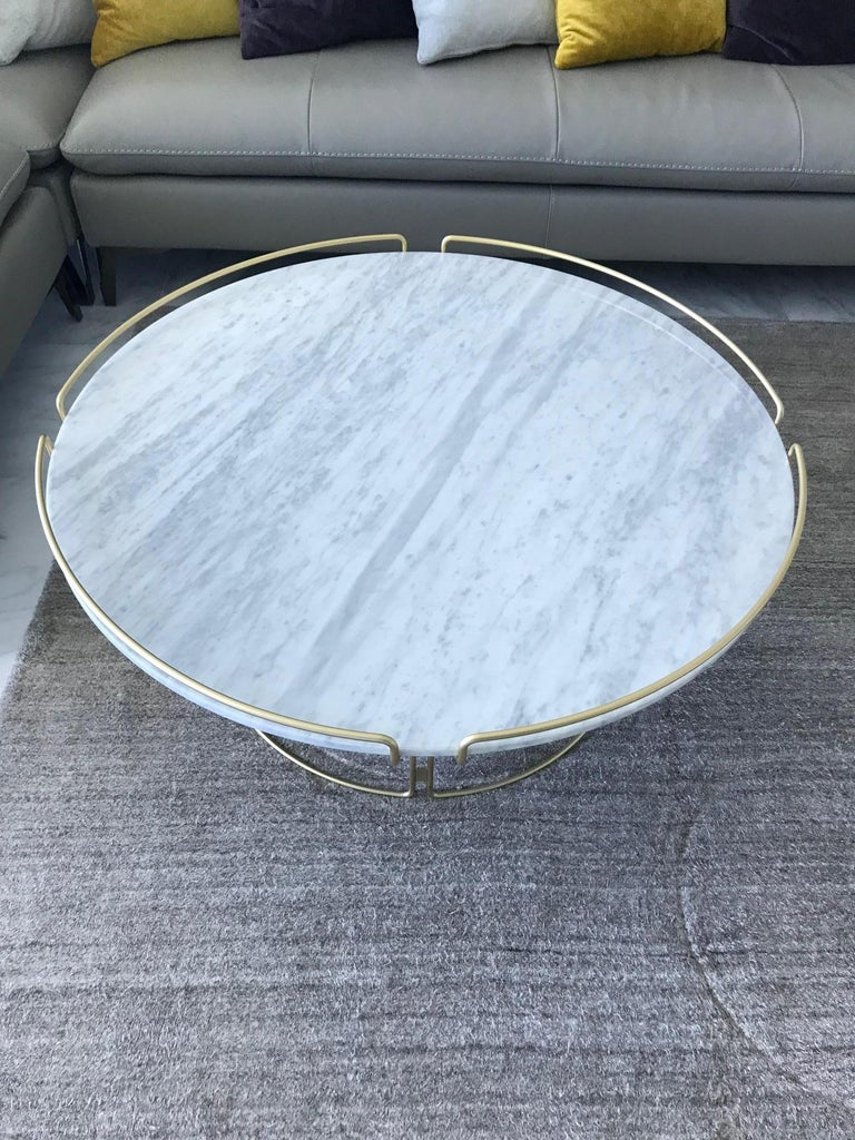 Bijou Coffee Table in Marble and Matte Gold by Roche Bobois, 2018 For Sale 2