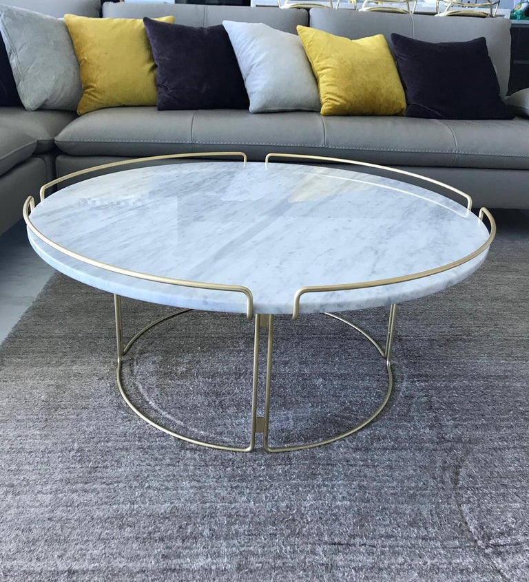 Bijou Coffee Table in Marble and Matte Gold by Roche Bobois, 2018 For Sale 3
