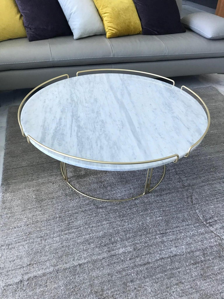 Bijou Coffee Table in Marble and Matte Gold by Roche Bobois, 2018 For Sale 4
