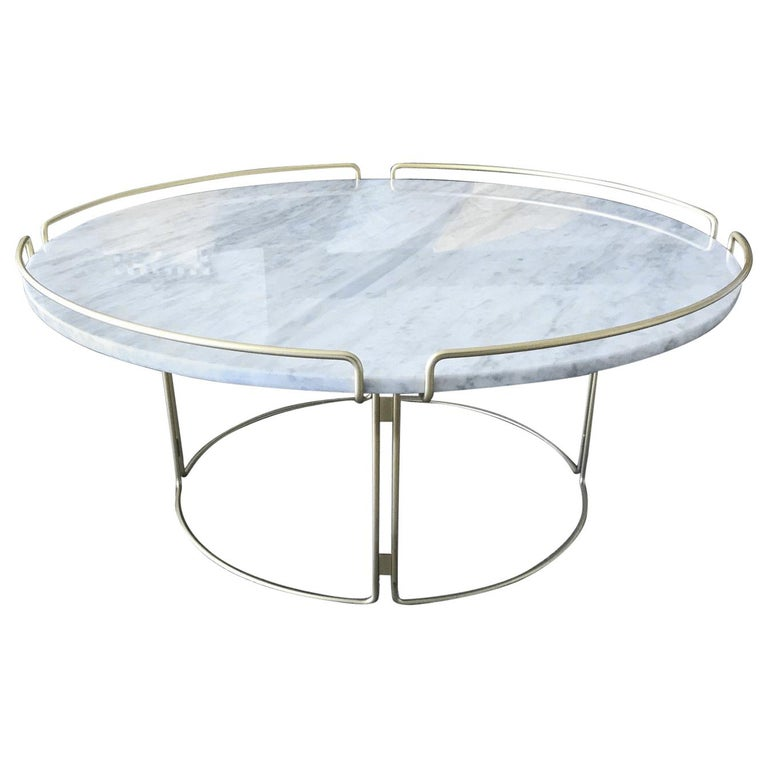 Bijou Coffee Table in Marble and Matte Gold by Roche Bobois, 2018 For Sale 5