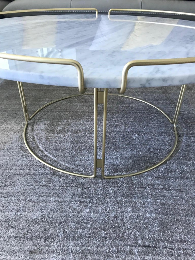 Bijou Coffee Table in Marble and Matte Gold by Roche Bobois, 2018 For Sale 1
