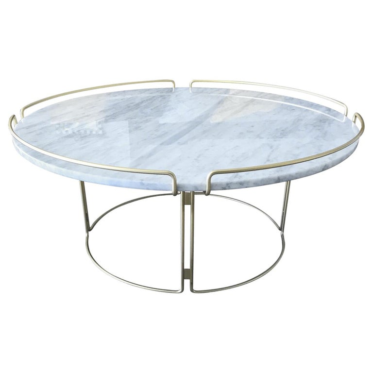 Bijou Coffee Table in Marble and Matte Gold by Roche Bobois, 2018 For Sale