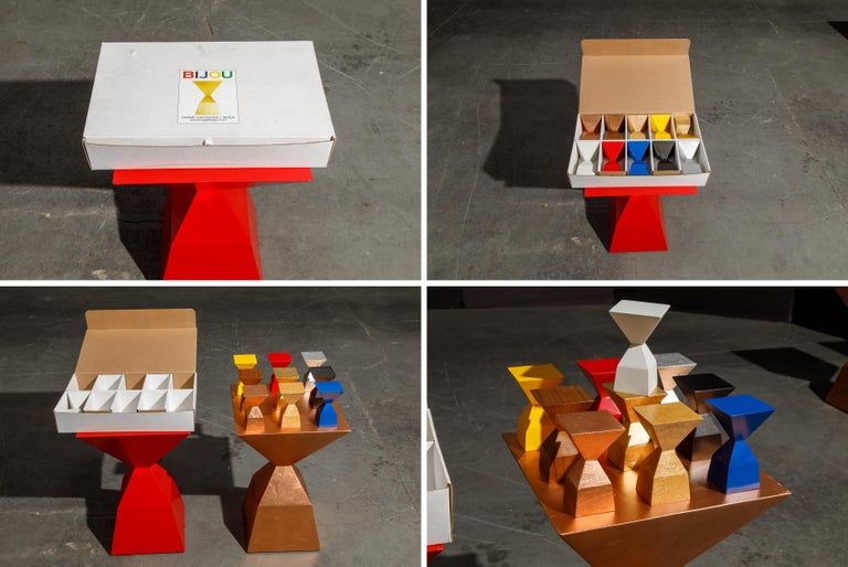 'Bijou' Occasional Tables Prototype Set by Stewart MacDougall, Signed For Sale 3