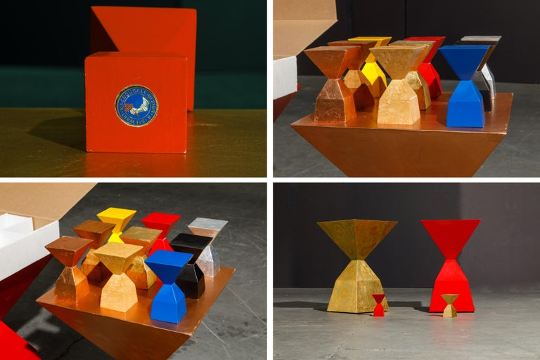 'Bijou' Occasional Tables Prototype Set by Stewart MacDougall, Signed For Sale 4