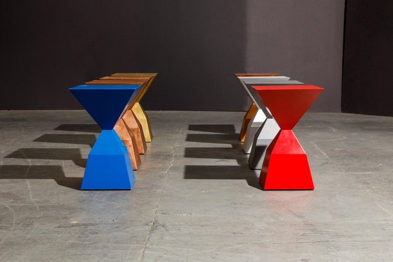 'Bijou' Occasional Tables Prototype Set by Stewart MacDougall, Signed For Sale 6