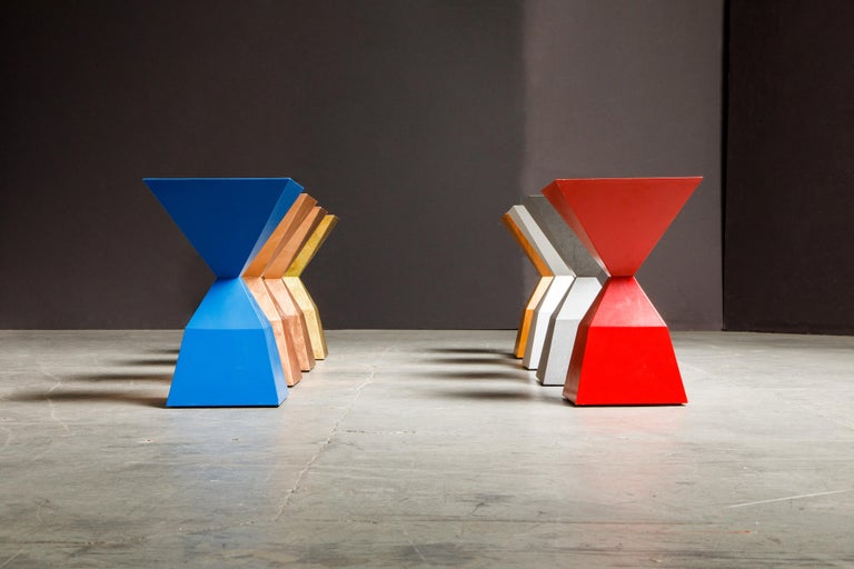 'Bijou' Occasional Tables Prototype Set by Stewart MacDougall, Signed For Sale 11