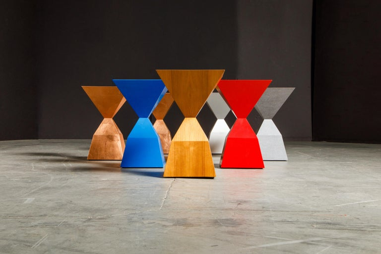 'Bijou' Occasional Tables Prototype Set by Stewart MacDougall, Signed In Good Condition For Sale In Los Angeles, CA