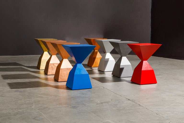 Wood 'Bijou' Occasional Tables Prototype Set by Stewart MacDougall, Signed For Sale