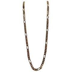 Bijoux Cascio 1970s Heavy Gold Curb Link Long Necklace