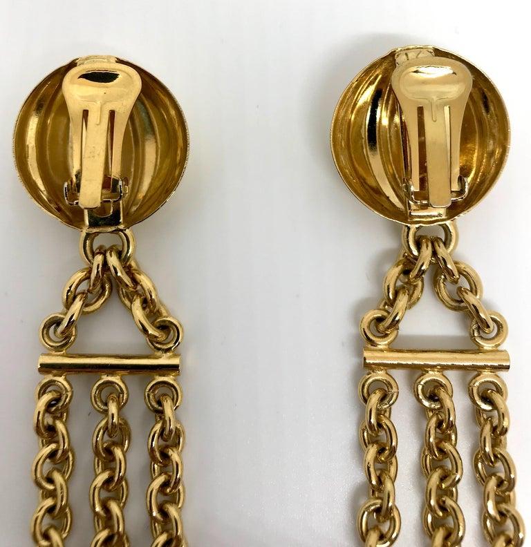 Women's Bijoux Cascio of Italy 1980s Fringe Chain Earrings For Sale