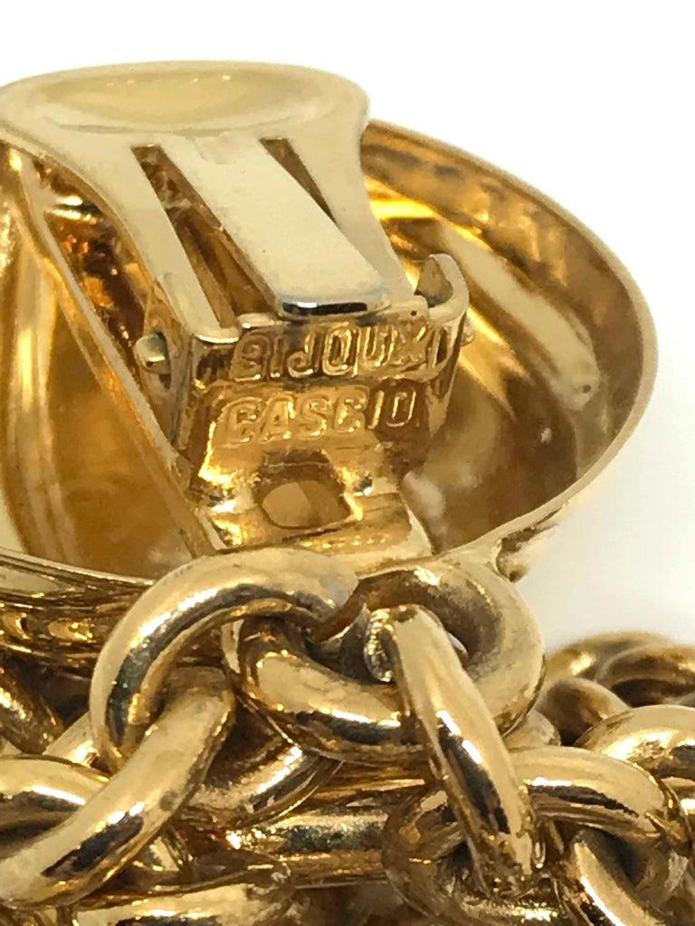 Bijoux Cascio of Italy 1980s Fringe Chain Earrings For Sale 3