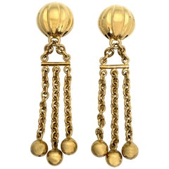 Bijoux Cascio of Italy 1980s Fringe Chain Earrings