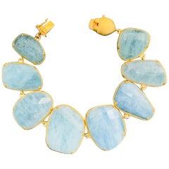 Bijoux Num Aquamarine Link Bracelet