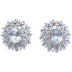 Bijoux Num Elegant Faux Diamond Cluster Earrings