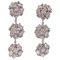 Bijoux Num Encrusted Faux Diamond Dangle Earrings