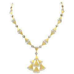 Bijoux Num Fan-shape Pendant Vermeil Necklace