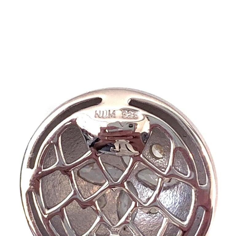 Bijoux Num Flower Faux Diamond Round Button Clip-on Earrings For Sale 1