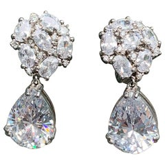 Bijoux Num Pear Shape Faux Diamond Drop Earrings