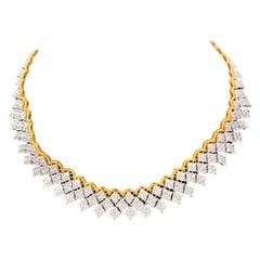 Bijoux Num Stunning Diamond Shape Cubic Zirconia Flexible Necklace